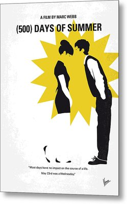 No500 My 500 Days Of Summer Minimal Movie Poster Metal Print by Chungkong Art