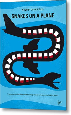 No501 My Snakes On A Plane Minimal Movie Poster Metal Print by Chungkong Art