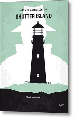 No513 My Shutter Island Minimal Movie Poster Metal Print