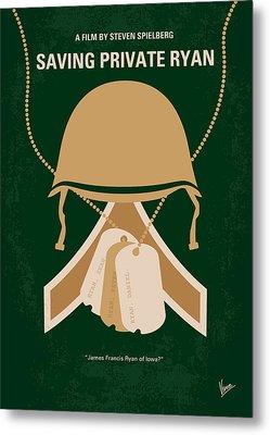 No520 My Saving Private Ryan Minimal Movie Poster Metal Print by Chungkong Art