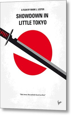 No522 My Showdown In Little Tokyo Minimal Movie Metal Print by Chungkong Art