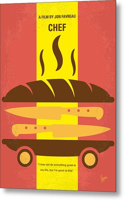 No524 My Chef Minimal Movie Poster Metal Print