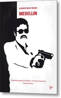 No526 My Medellin Minimal Movie Poster Metal Print by Chungkong Art