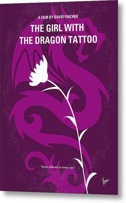 No528 My The Girl With The Dragon Tattoo Minimal Movie Poster Metal Print