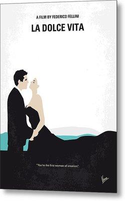 No529 My La Dolce Vita Minimal Movie Poster Metal Print by Chungkong Art