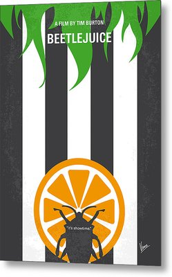 No531 My Beetlejuice Minimal Movie Poster Metal Print