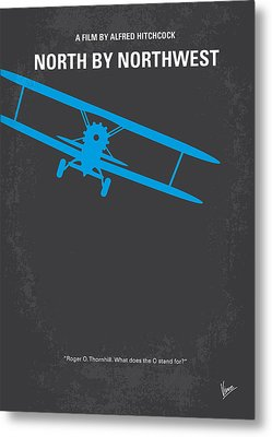 No535 My North By Northwest Minimal Movie Poster Metal Print by Chungkong Art
