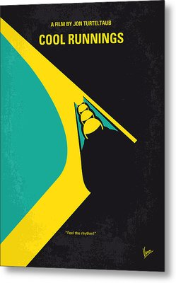 No538 My Cool Runnings Minimal Movie Poster Metal Print