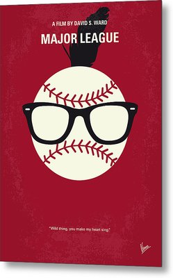 No541 My Major League Minimal Movie Poster Metal Print