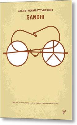 No543 My Gandhi Minimal Movie Poster Metal Print