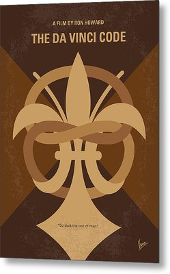 No548 My Da Vinci Code Minimal Movie Poster Metal Print by Chungkong Art