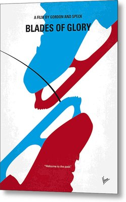 No562 My Blades Of Glory Minimal Movie Poster Metal Print