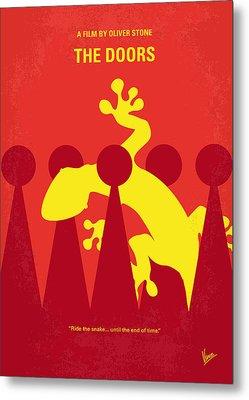 No573 My The Doors Minimal Movie Poster Metal Print by Chungkong Art