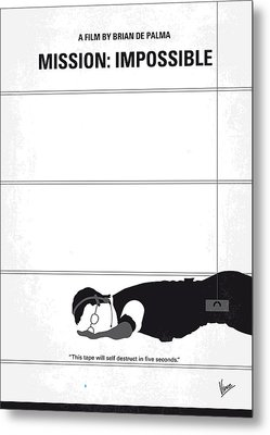 No583 My Mission Impossible Minimal Movie Poster Metal Print by Chungkong Art