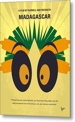 No589 My Madagascar Minimal Movie Poster Metal Print