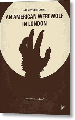 No593 My American Werewolf In London Minimal Movie Poster Metal Print by Chungkong Art
