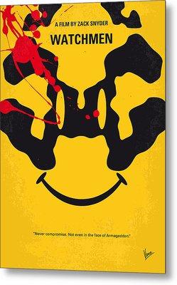 No599 My Watchmen Minimal Movie Poster Metal Print by Chungkong Art