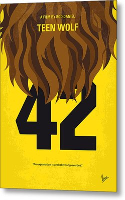 No607 My Teen Wolf Minimal Movie Poster Metal Print by Chungkong Art