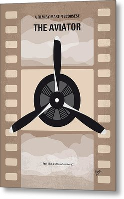 No618 My The Aviator Minimal Movie Poster Metal Print
