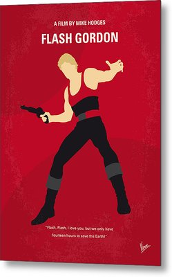 No632 My Flash Gordon Minimal Movie Poster Metal Print by Chungkong Art