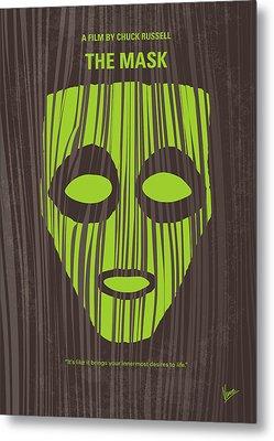 No647 My The Mask Minimal Movie Poster Metal Print by Chungkong Art