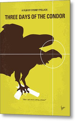 No659 My Three Days Of The Condor Minimal Movie Poster Metal Print by Chungkong Art