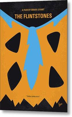 No669 My The Flintstones Minimal Movie Poster Metal Print by Chungkong Art