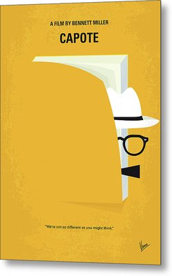 No671 My Capote Minimal Movie Poster Metal Print by Chungkong Art