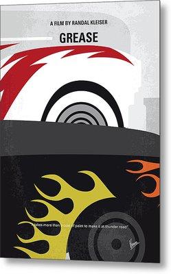 No674 My Grease Minimal Movie Poster Metal Print by Chungkong Art