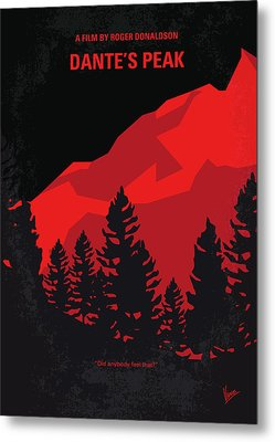 No682 My Dantes Peak Minimal Movie Poster Metal Print by Chungkong Art
