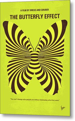 No697 My The Butterfly Effect Minimal Movie Poster Metal Print by Chungkong Art