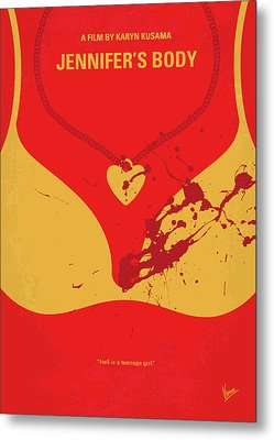 No698 My Jennifers Body Minimal Movie Poster Metal Print