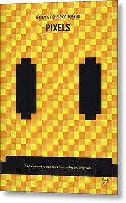 No703 My Pixels Minimal Movie Poster Metal Print