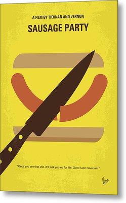 No704 My Sausage Party Minimal Movie Poster Metal Print