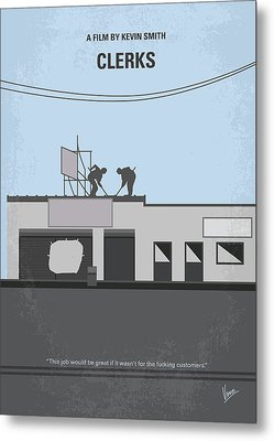 No715 My Clerks Minimal Movie Poster Metal Print
