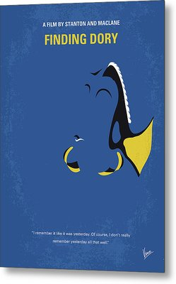 No717 My Finding Dory Minimal Movie Poster Metal Print
