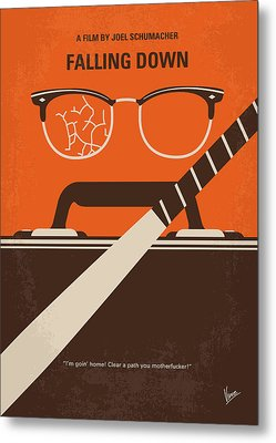 Metal Print featuring the digital art No768 My Falling Down Minimal Movie Poster by Chungkong Art