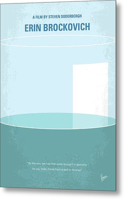 Metal Print featuring the digital art No769 My Erin Brockovich Minimal Movie Poster by Chungkong Art