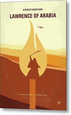 Metal Print featuring the digital art No772 My Lawrence Of Arabia Minimal Movie Poster by Chungkong Art