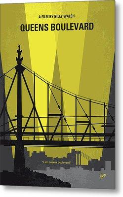 No776 My Queens Boulevard Minimal Movie Poster Metal Print by Chungkong Art