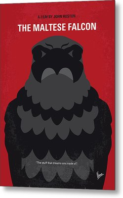 No780 My The Maltese Falcon Minimal Movie Poster Metal Print by Chungkong Art