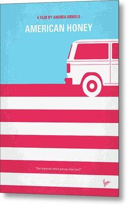 No786 My American Honey Minimal Movie Poster Metal Print by Chungkong Art