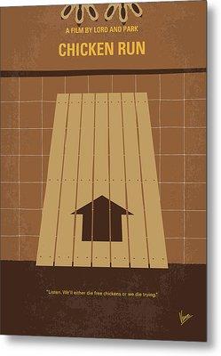 No789 My Chicken Run Minimal Movie Poster Metal Print by Chungkong Art