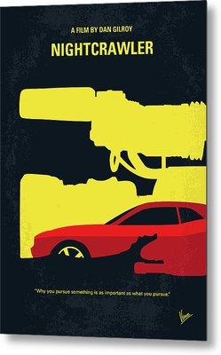 No794 My Nightcrawler Minimal Movie Poster Metal Print