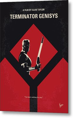 No802-5 My The Terminator 5 Minimal Movie Poster Metal Print by Chungkong Art