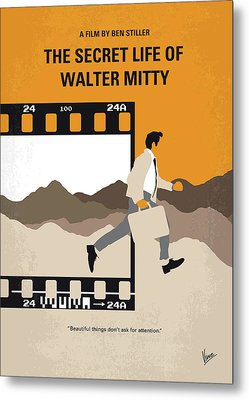 No806 My The Secret Life Of Walter Mitty Minimal Movie Poster Metal Print