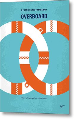 No815 My Overboard Minimal Movie Poster Metal Print