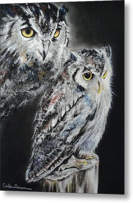 Noble Owl Guardian Of The Afterlife Metal Print