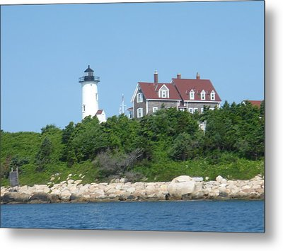 Nobska Point Lighthouse Metal Print by Donna Walsh