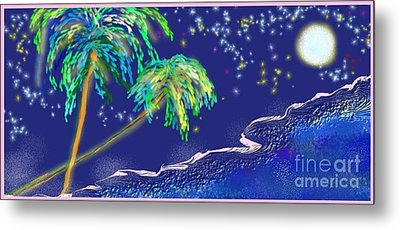 Metal Print featuring the painting Noche Tropical by The Art of Alice Terrill
